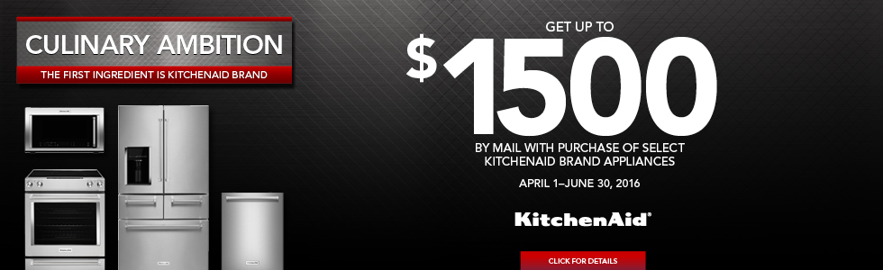 KitchenAid Culinary Ambition- Save up to $1500